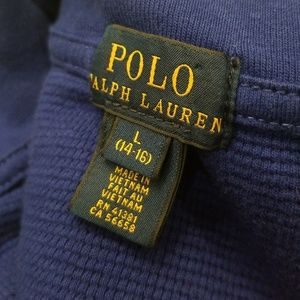 Polo by Ralph Lauren Shirts & Tops - Ralph Lauren boys thermal half zip sweater Large